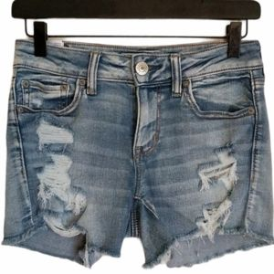 American Eagle distressed shorts lace stretch 4